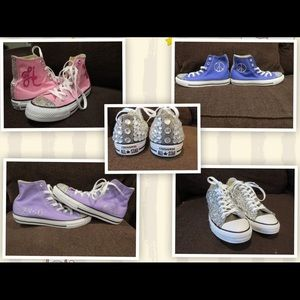 Shoes - Custom made bedazzled sneakers.